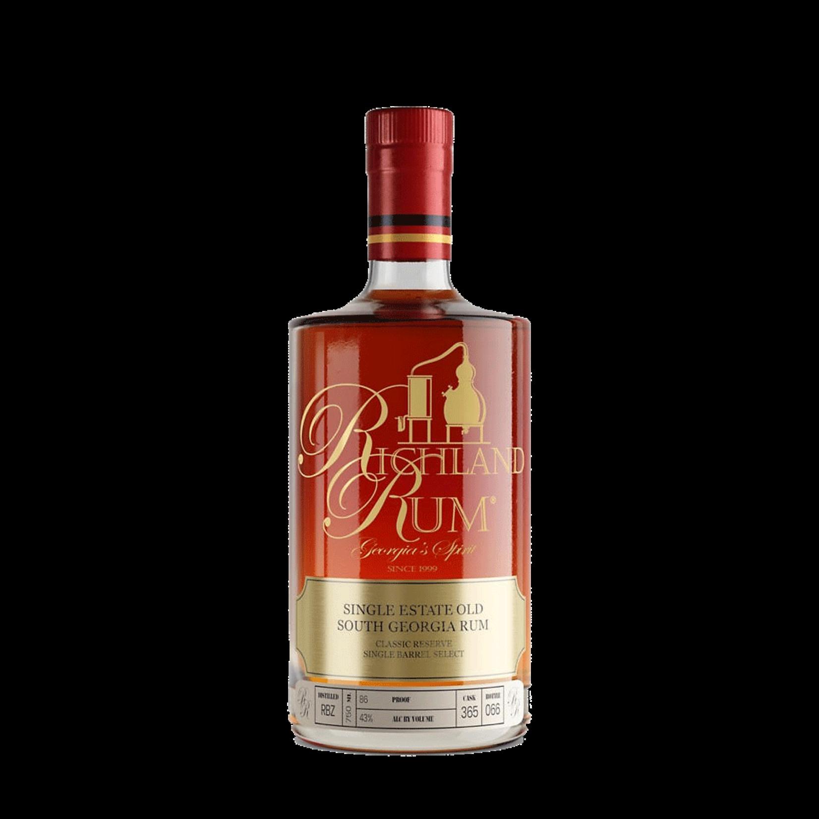 Spirits Richland Single Estate Old Georgia Agricole Rum