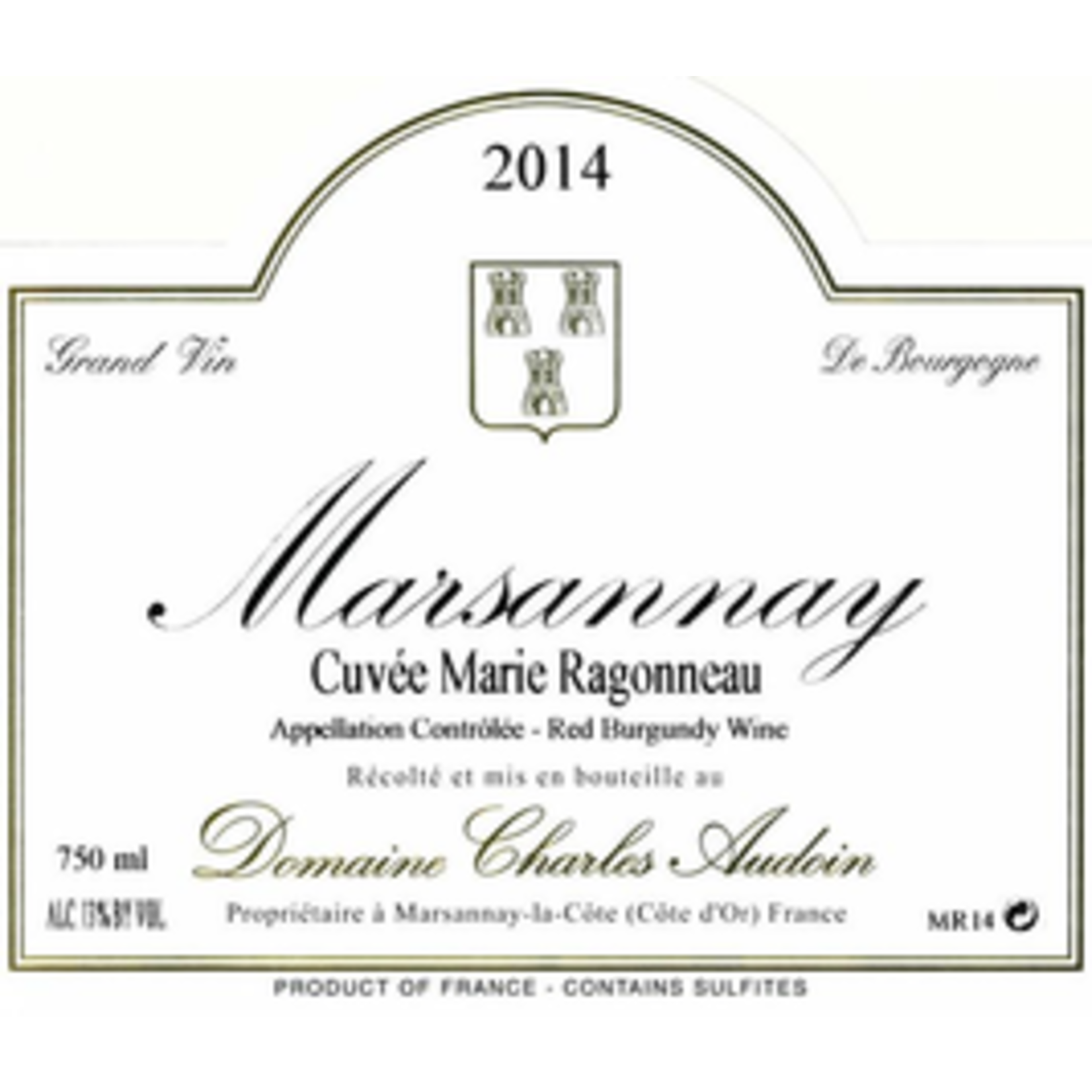 Wine Domaine Charles Audoin Marsannay Cuvee Marie Ragonneau 2017