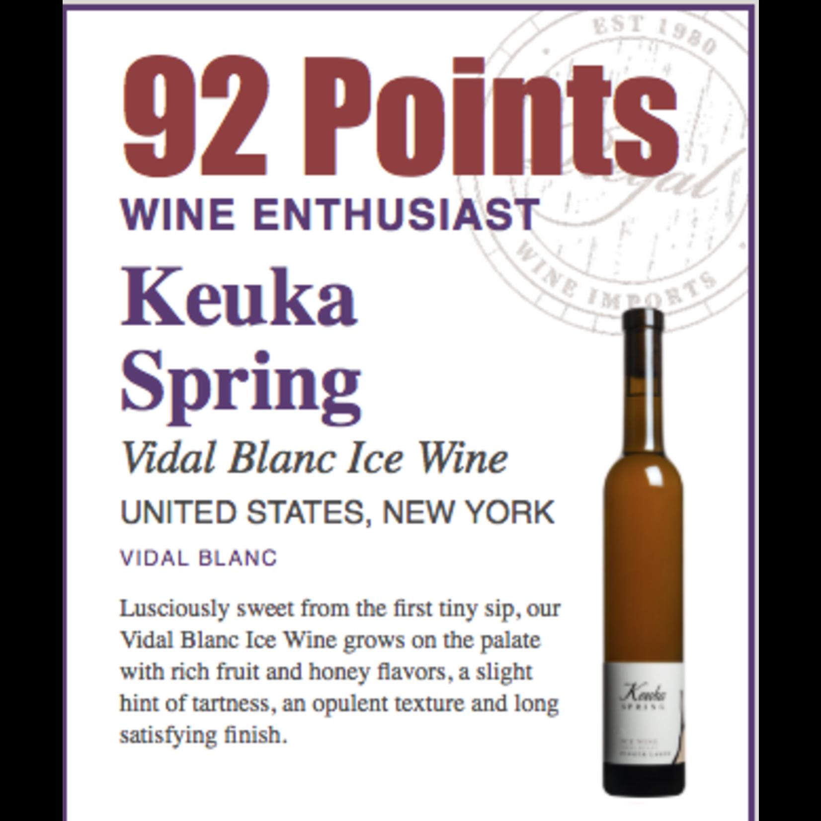 Wine Keuka Spring Ice Wine Vidal Blanc Finger Lakes 2018 375ml