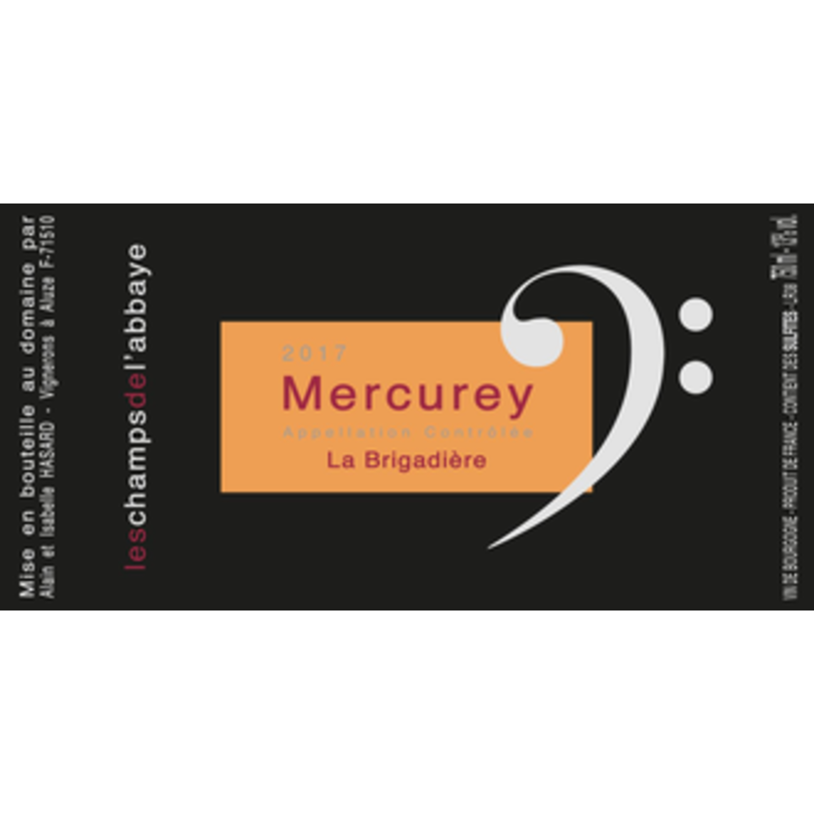 Wine Domaine Les Champs de l'Abbaye Mercurey La Brigadiere 2019