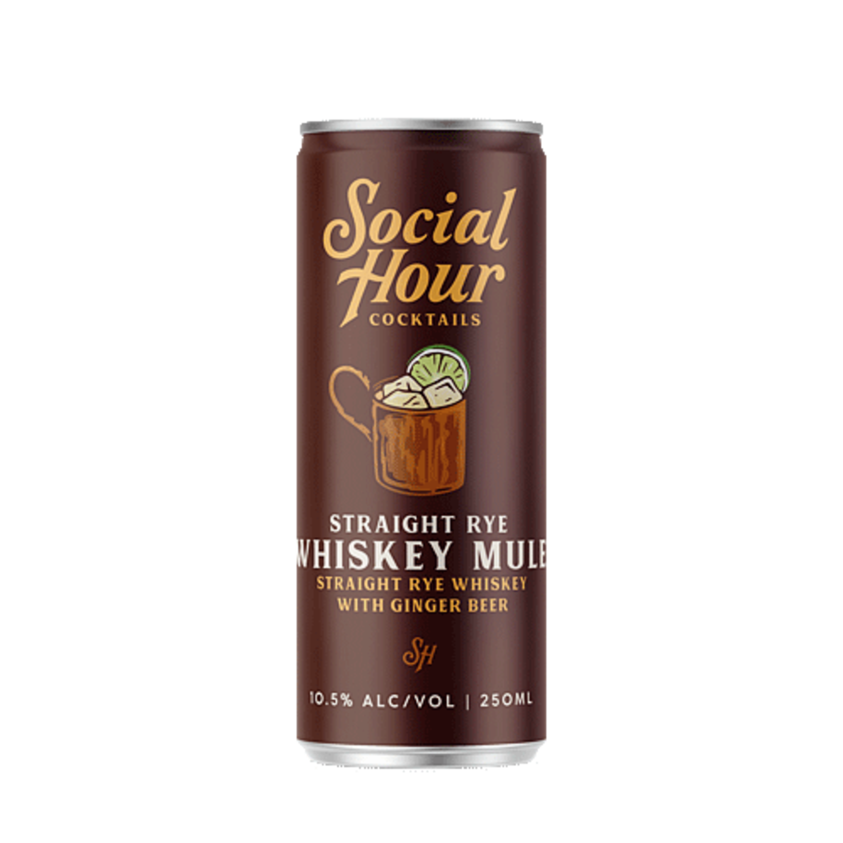 Spirits Social Hour Cocktails Brooklyn Craft Whiskey Mule Can 250ml