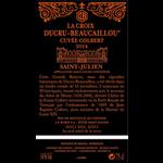 Wine Croix de Beaucaillou Cuvee Colbert 2016