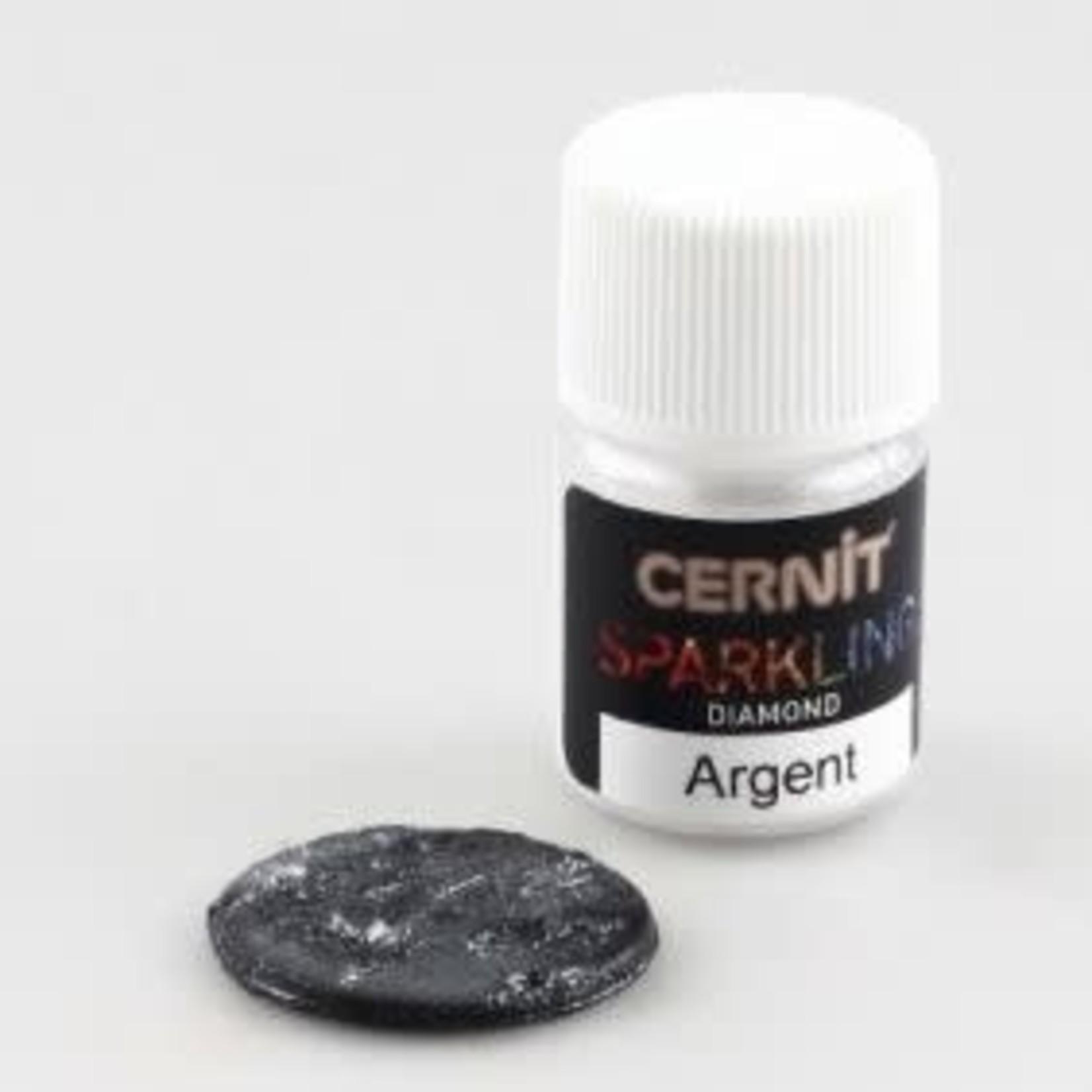 Cernit Cernit Sparkling Diamond Silver 5 Gr