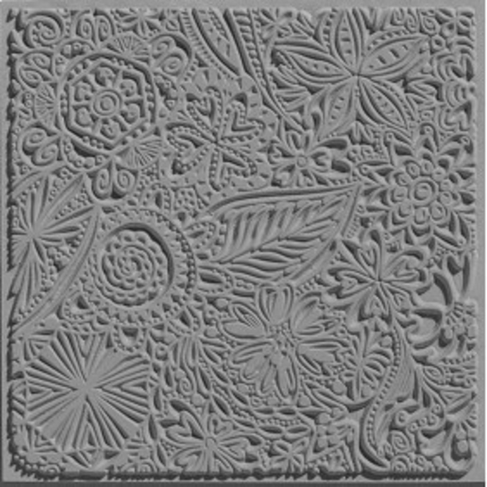 Cernit Cernit Texture Plate 9 X 9 cm - Flowers