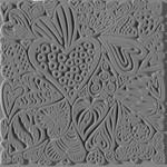 Cernit Cernit Texture Plate 9 X 9 cm - Hearts
