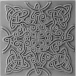 Cernit Cernit Texture Plate 9 X 9 cm - Celtic Knot