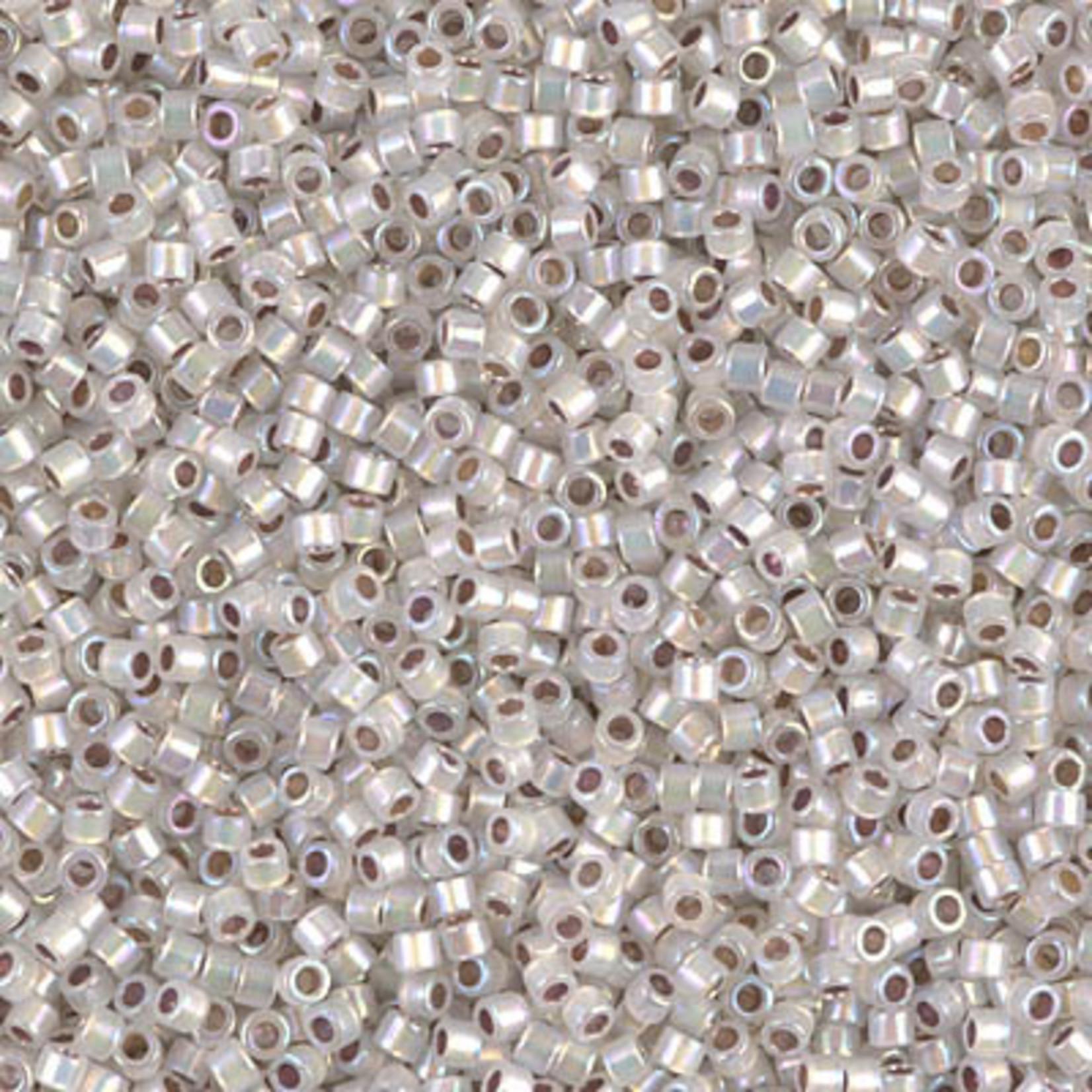 Miyuki 7.2 GM DB0223 11/0 Delica: White Opal/Silver ICL/R (APX 1400 PCS)