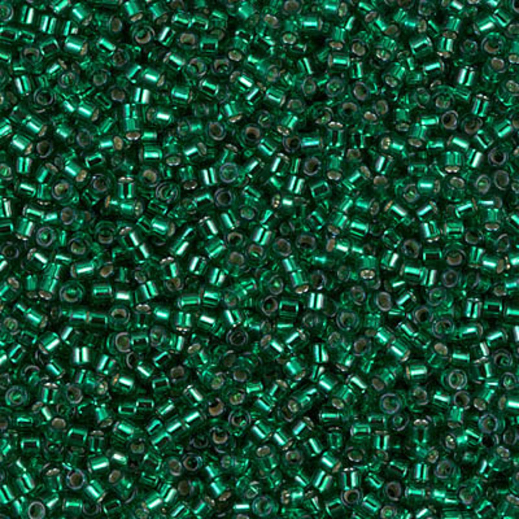 Miyuki 7.2 GM DB0605 11/0 Delica: Emerald Green T/SL (D) (APX 1400 PCS)