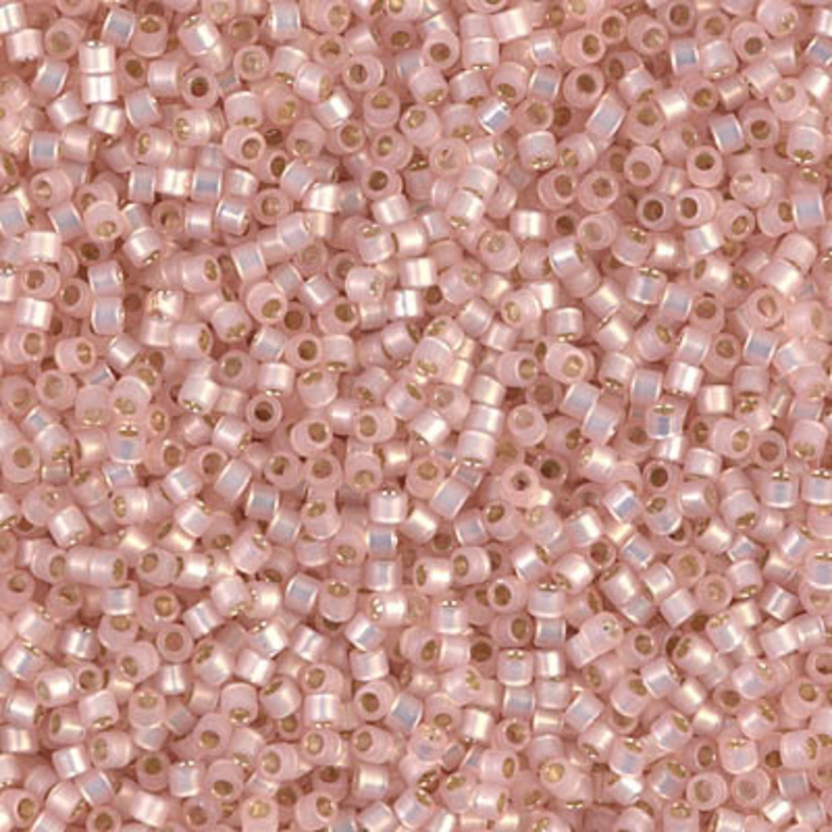 Miyuki 7.2 GM DB0624 11/0 Delica: Pastel Pink T/Opal SL (D) (APX 1400 PCS)