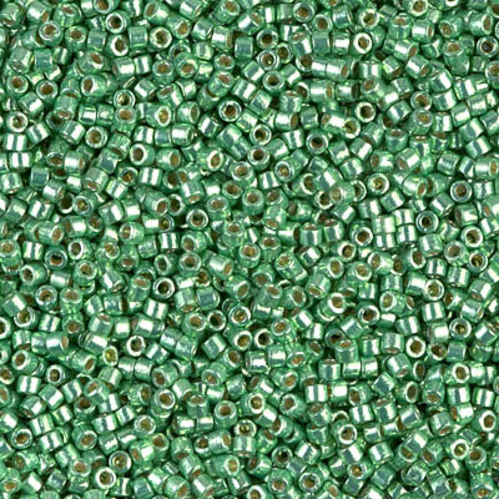Miyuki 7.2 GM DB1844 11/0 Delica: Dk Mint Green DC GA (APX 1400 PCS)