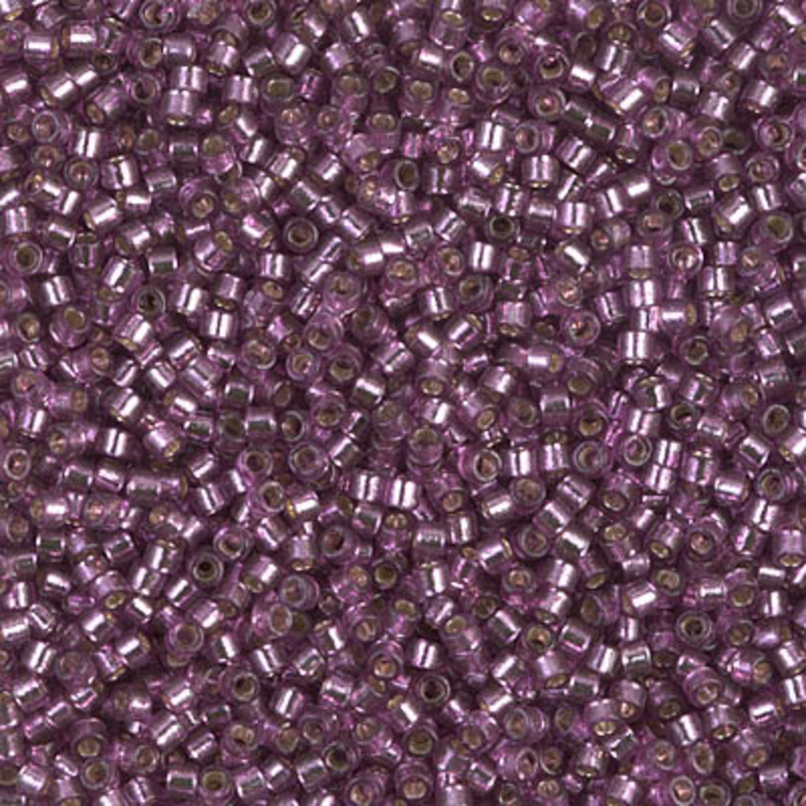 Miyuki 7.2 GM DB2169 11/0 Delica: Purple Silver Plum DC SL (D) (APX 1400 PCS)