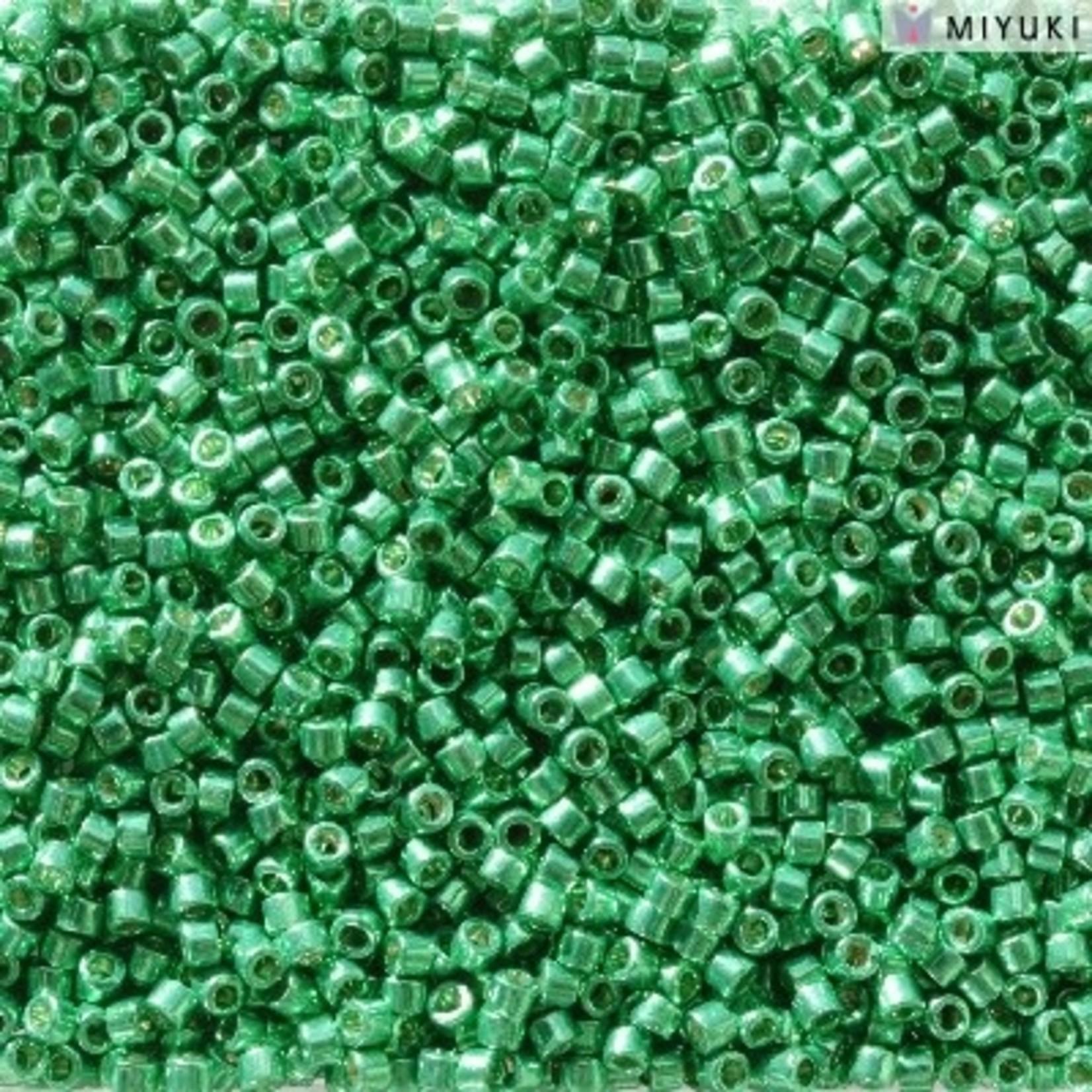 Miyuki 7.2 GM DB2505 11/0 Delica: Dk Mint Green DC GA (APX 1400 PCS)