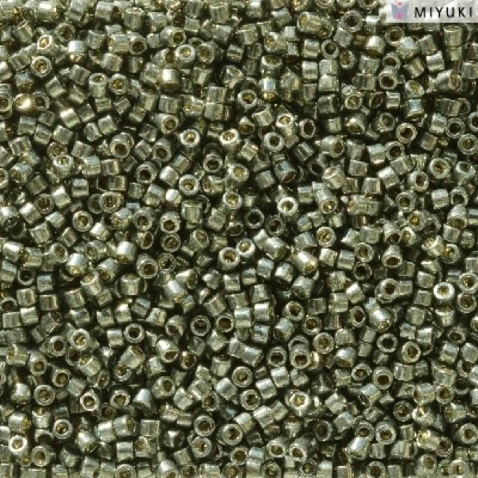 Miyuki 7.2 GM DB2512 11/0 Delica: Dk Steel Green DC GA (APX 1400 PCS)