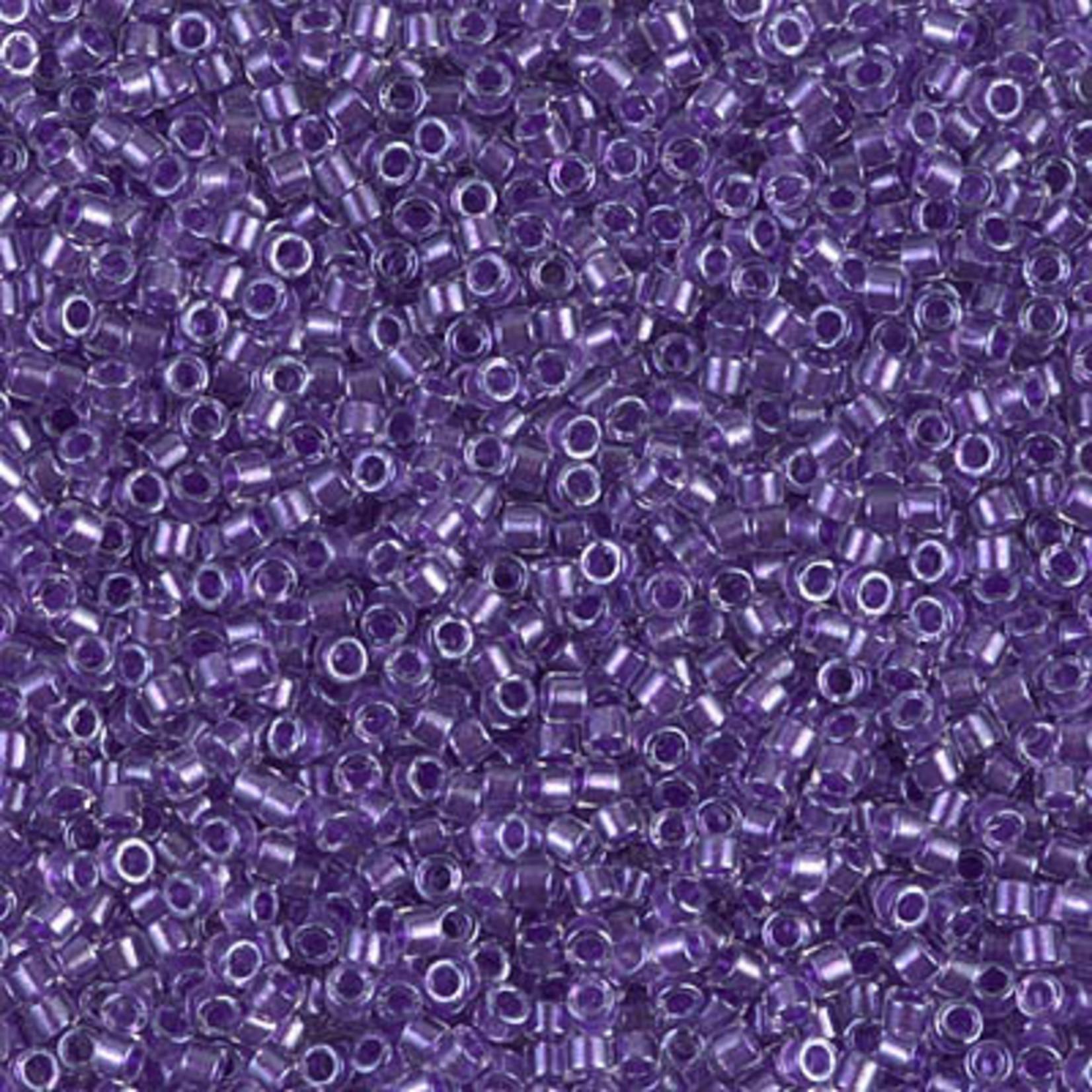 Miyuki 7.2 GM DB0906 11/0 Delica: Crystal/Purple ICL* (D) (APX 1400 PCS)