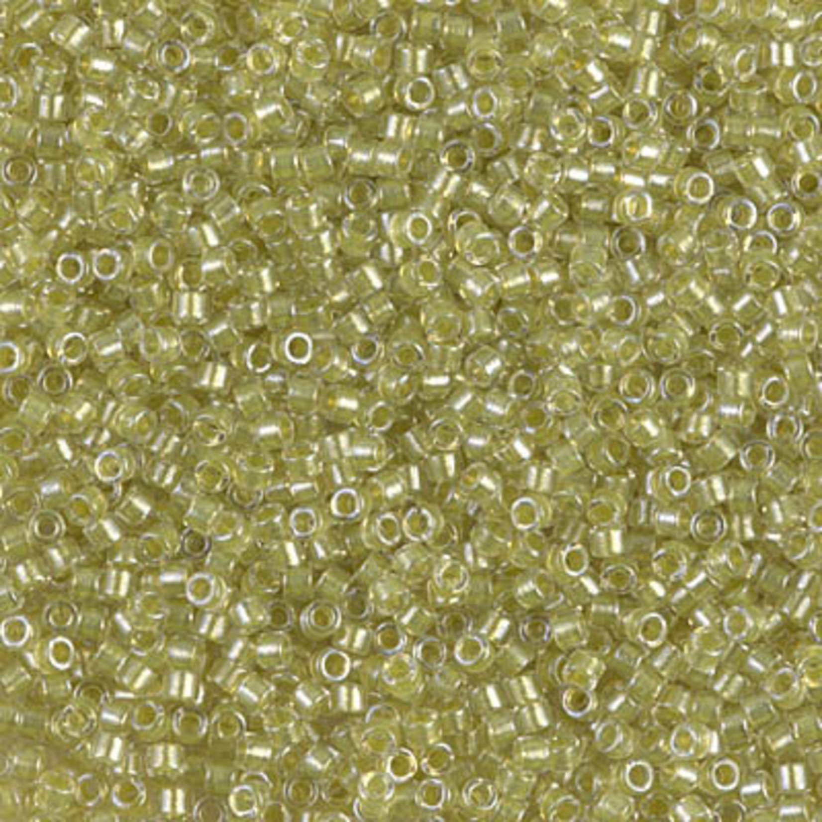 Miyuki 7.2 GM DB0910 11/0 Delica: Crystal/Lt Yellow ICL* (D) (APX 1400 PCS)