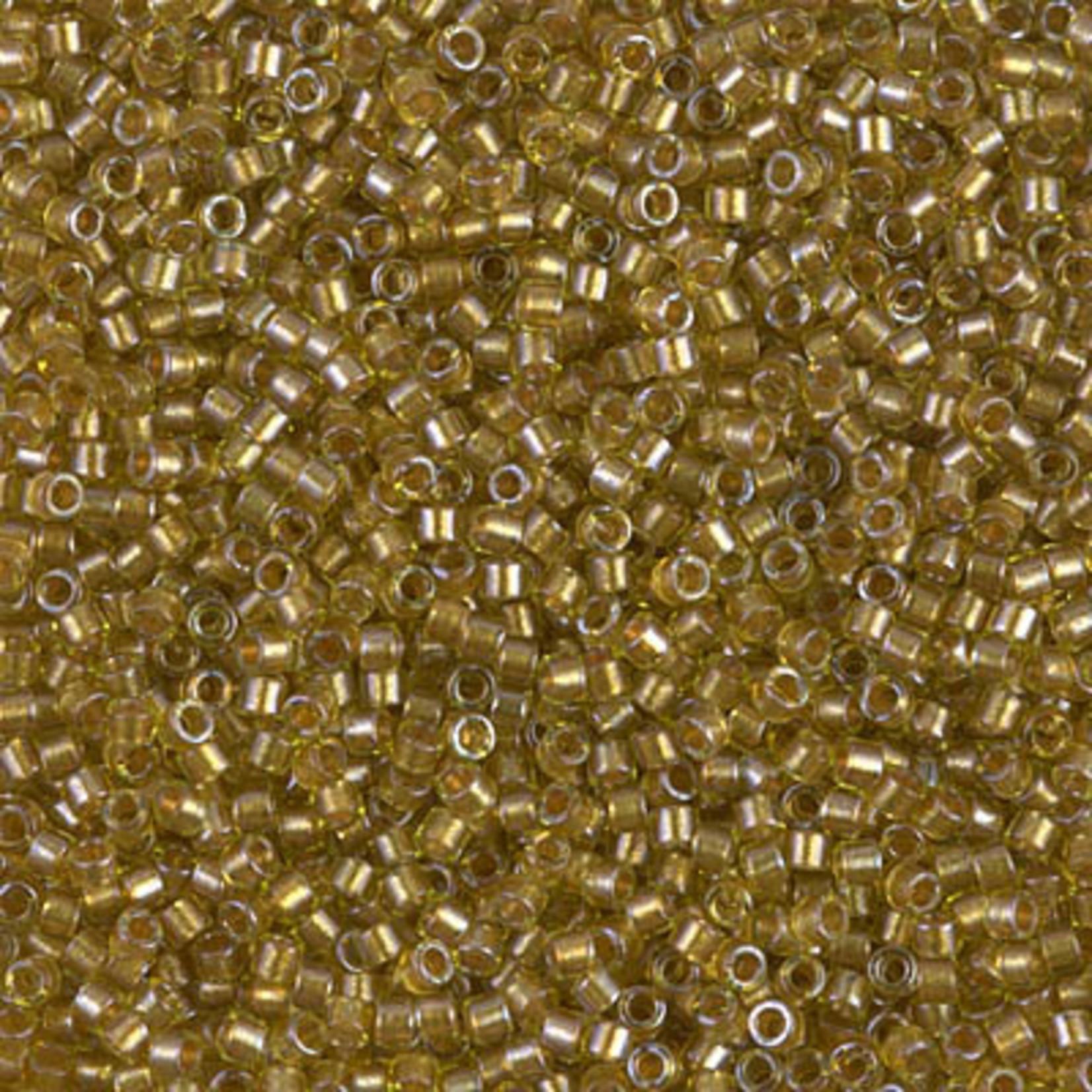 Miyuki 7.2 GM DB0909 11/0 Delica: Lt Chartreuse/Amber ICL* (D) (APX 1400 PCS)