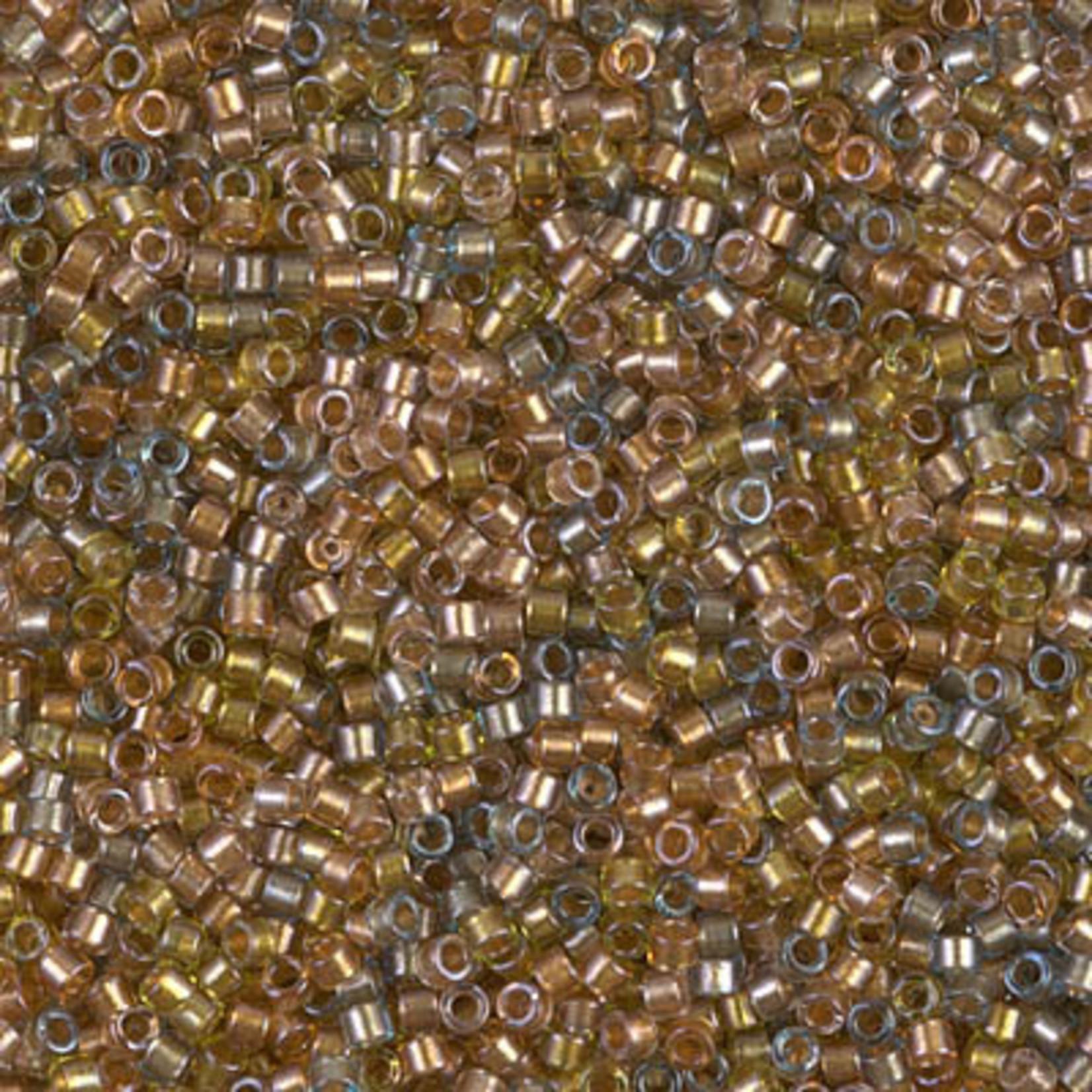 Miyuki 7.2 GM DB0981 11/0 Delica: Taupe/Amber Mix ICL* (D) (APX 1400 PCS)