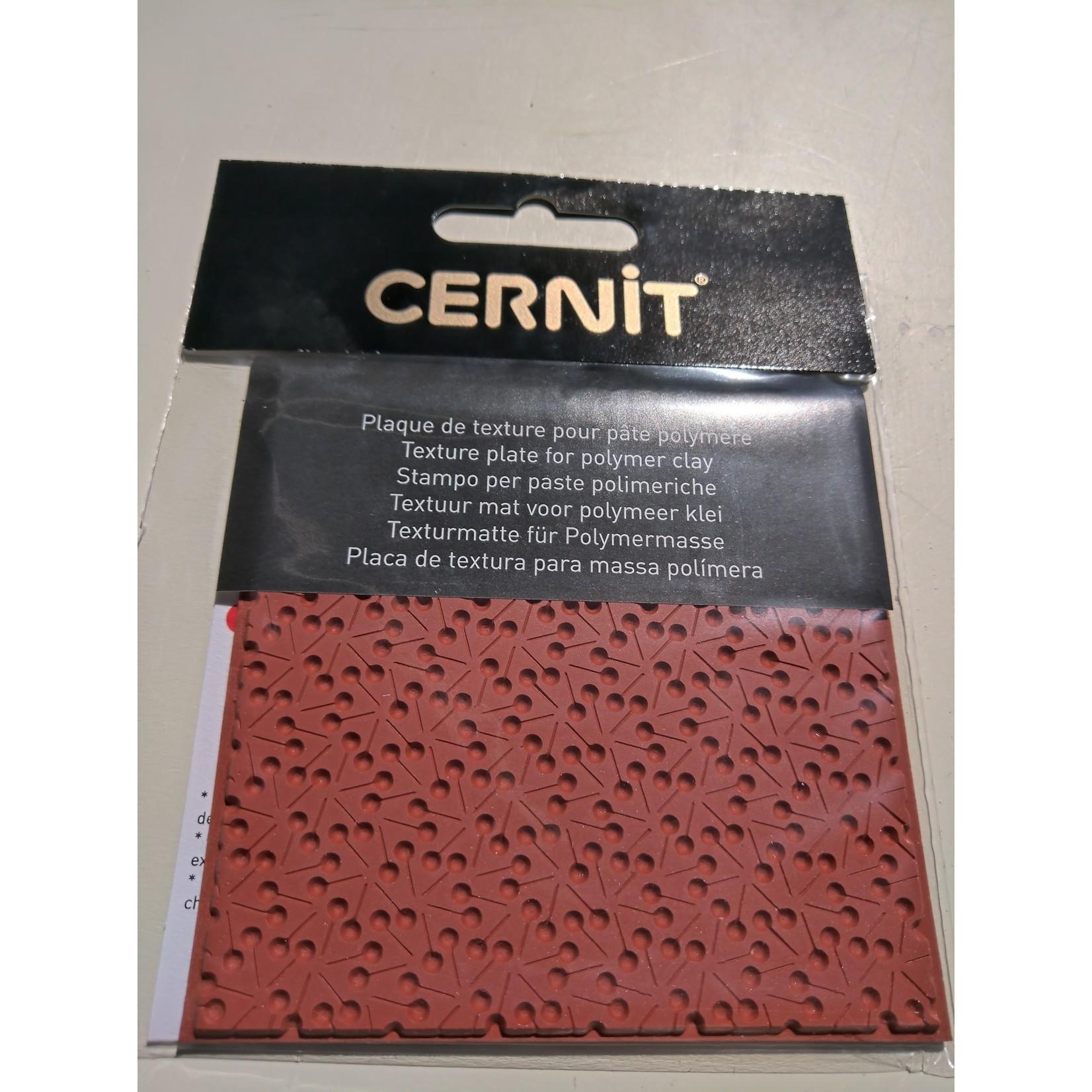 Cernit Cernit Texture Plate 9 X 9 cm - Lolipops (Red Version)