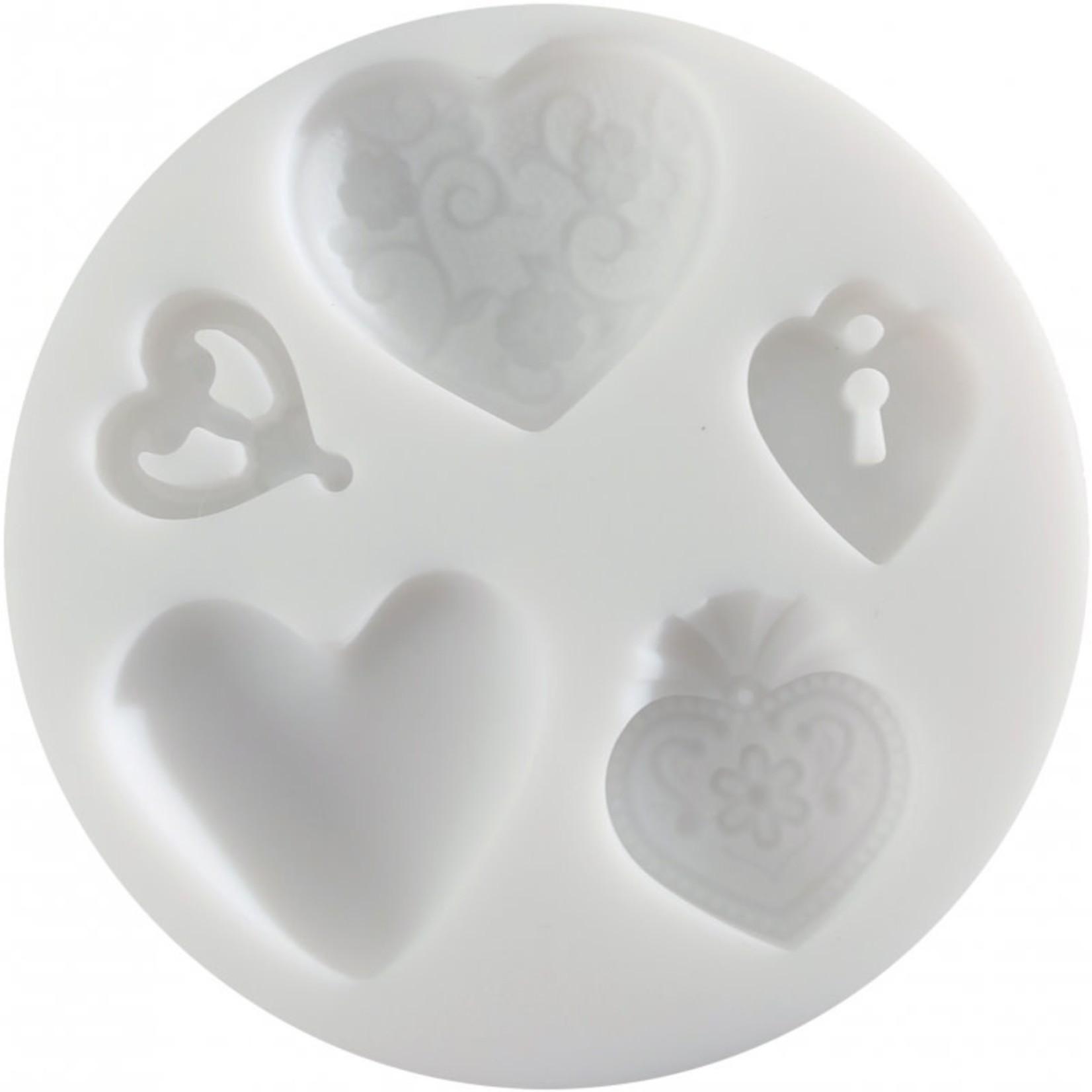 Cernit Cernit Silicone Mold - Hearts