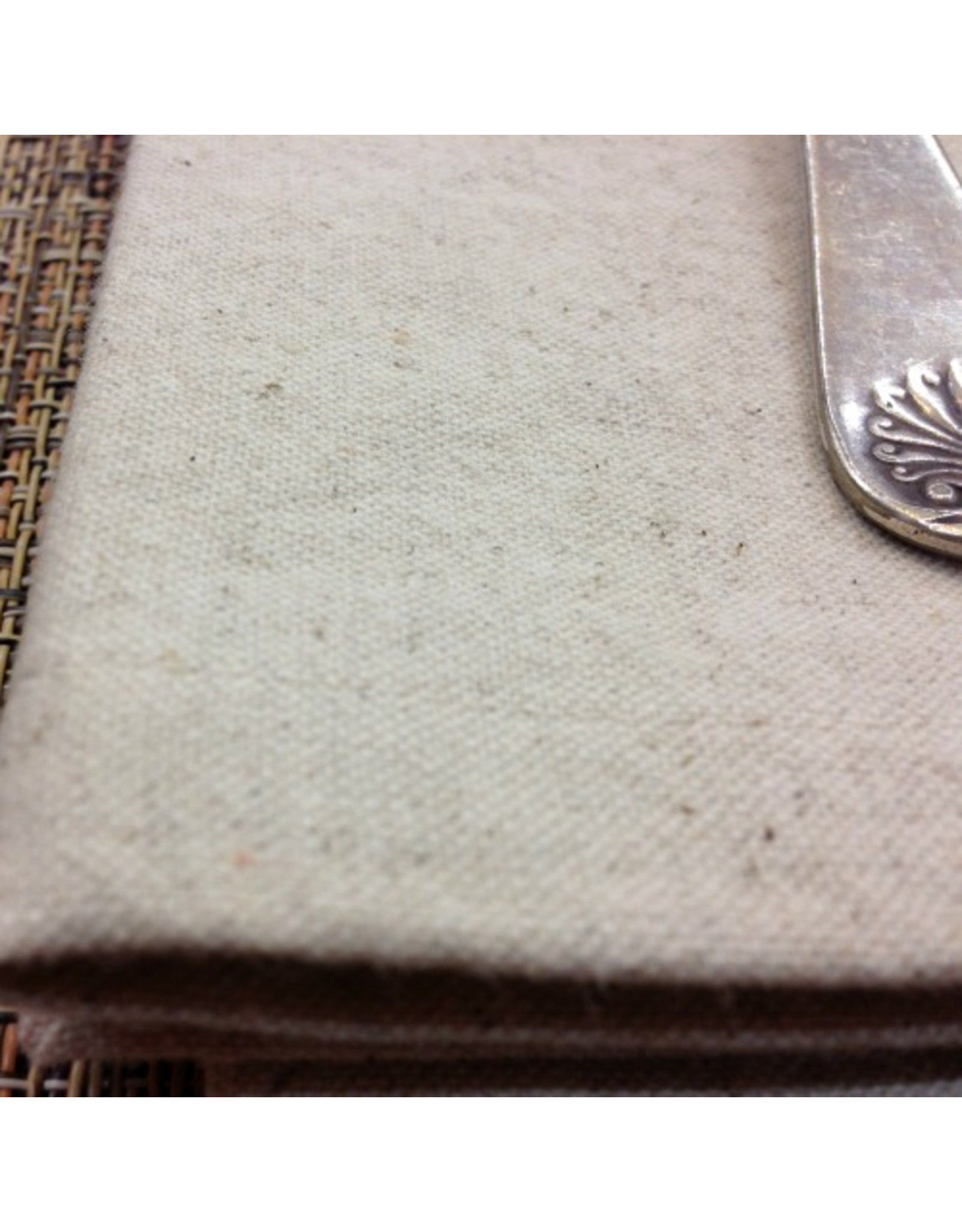 PD's Linen Blend Collection Linen Mochi Solid in Unbleached Linen, Dinner Napkin