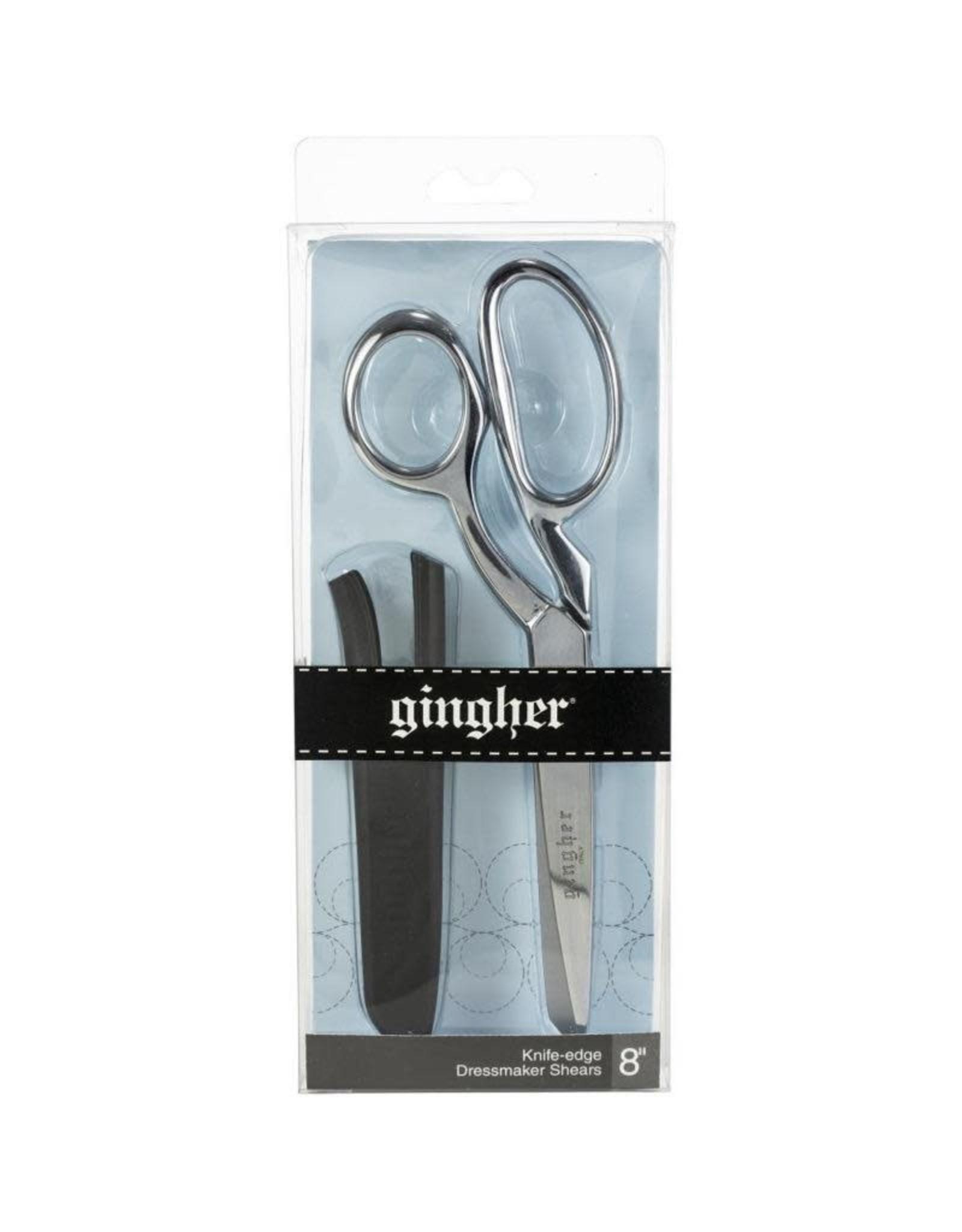 """Gingher Gingher 8"""" Right-Hand Knife-edge Dressmaker Shears Scissors"""