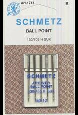 Schmetz Schmetz 1714 Ball Point/Jersey Needles - Size 80/12,  5 count
