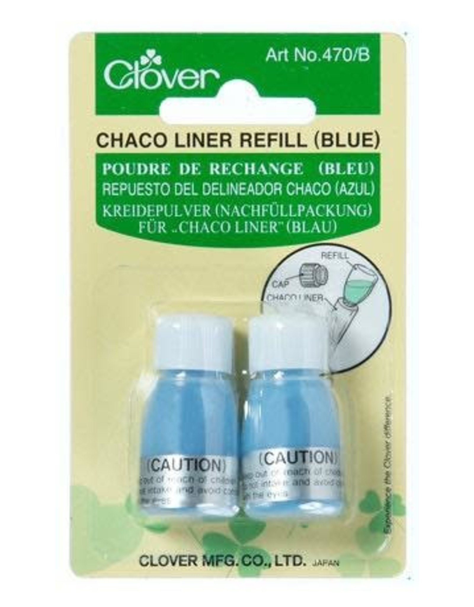 Clover Chaco Liner Refill - blue chalk