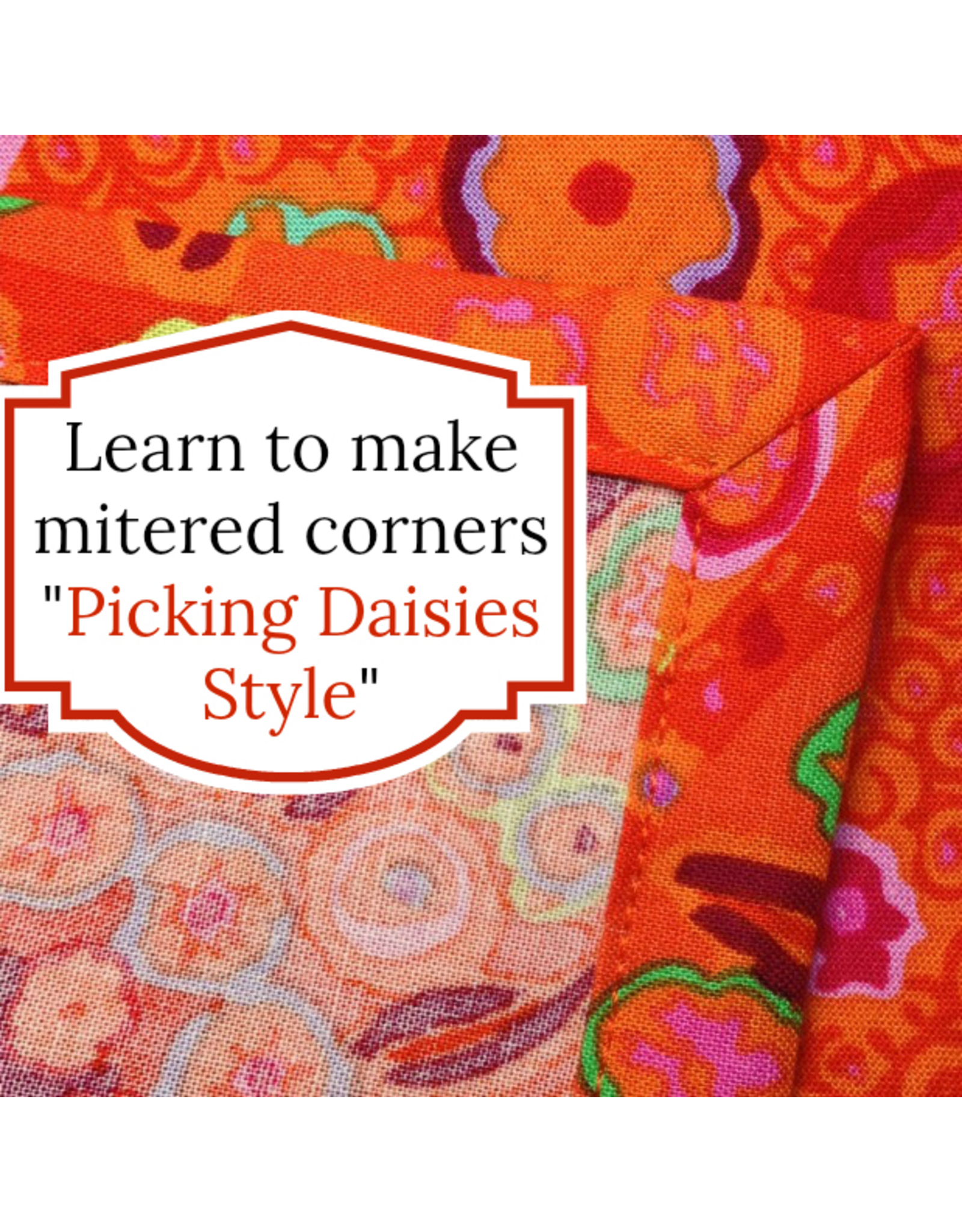 Picking Daisies Kit for Dinner Napkin Making - Your Choice of Fabric + Coordinating Thread to make 6 dinner napkins with mitered corners
