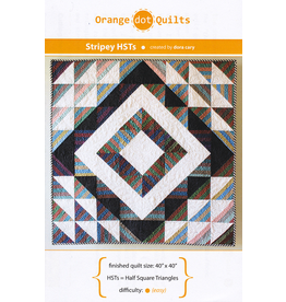 Orange Dot Quilts Stripey Half Square Triangles Quilt Pattern