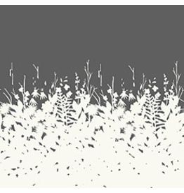 """Alison Glass Cotton Lawn, Adorn, Silhouette in Charcoal 54"""", Fabric Half-Yards"""