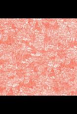 Carolyn Friedlander Rayon Lawn, Lucinda in Persimmon, Fabric Half-Yards