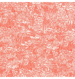 Carolyn Friedlander Rayon Lawn, Lucinda in Persimmon, Fabric Half-Yards