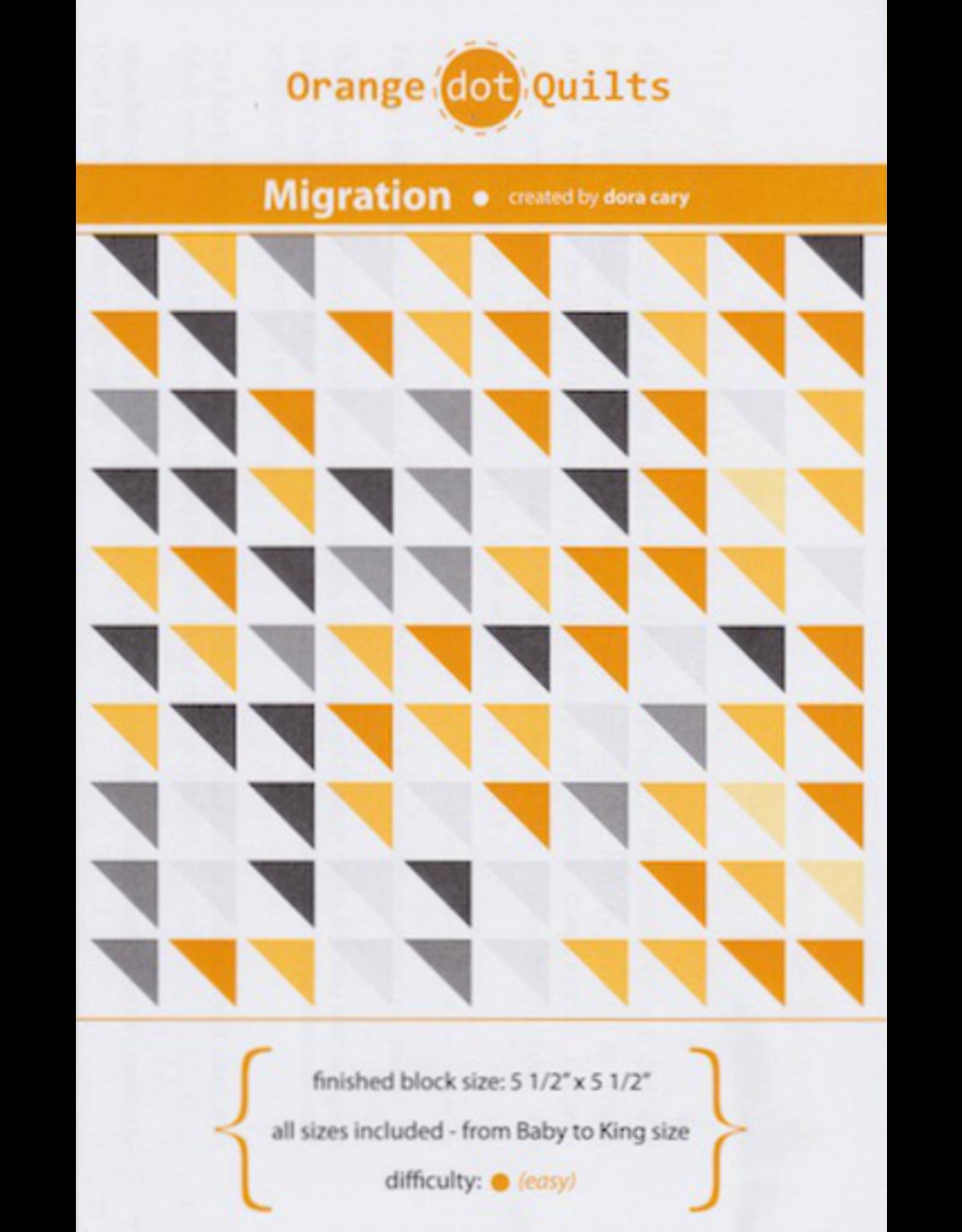 Orange Dot Quilts Migration Quilt Pattern