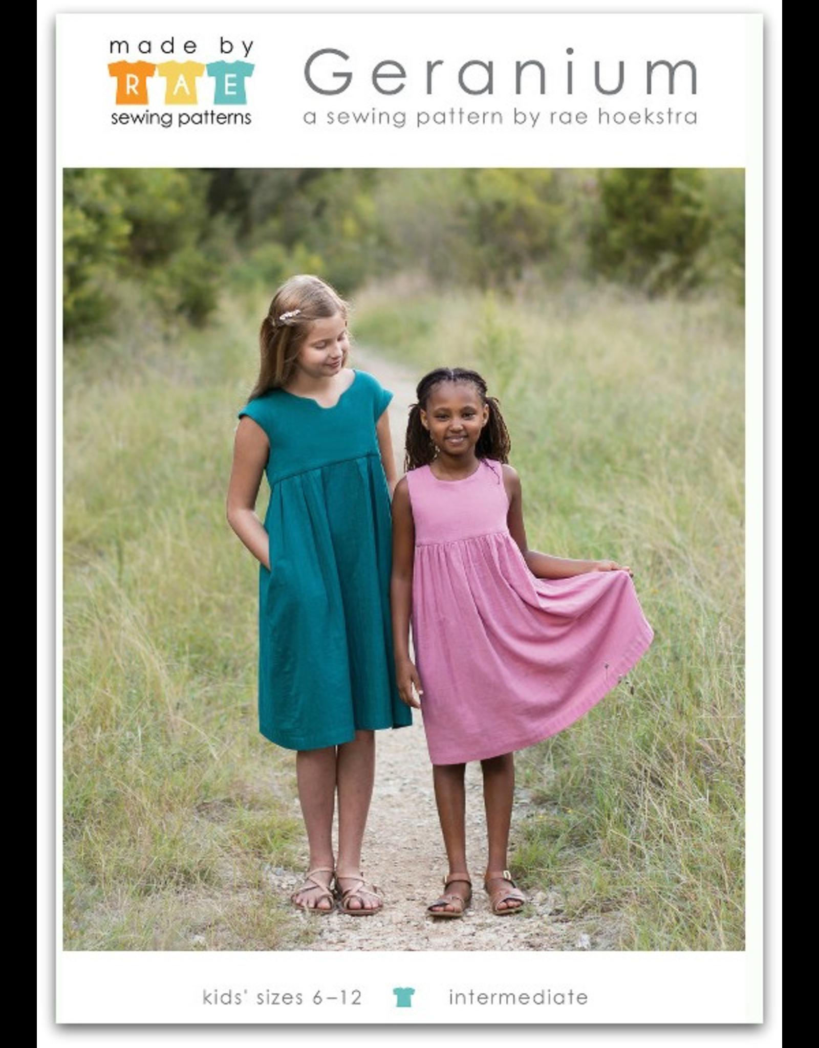 Made By Rae Big Girl Geranium Dress Pattern
