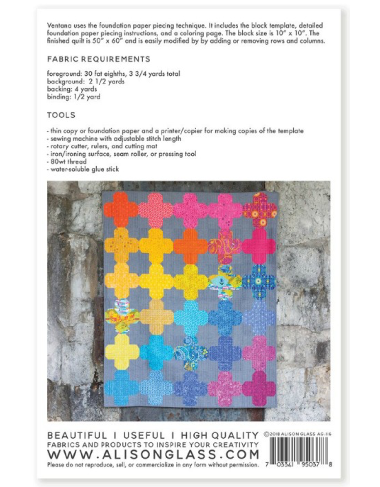 Alison Glass Ventana Quilt Pattern