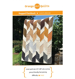 Orange Dot Quilts Ragged Flashback Quilt Pattern
