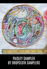 Dropcloth Samplers Paisley Sampler, Embroidery Sampler from Dropcloth Samplers