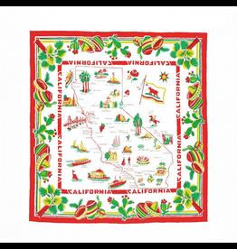 """Red & White Kitchen Co. California Cactus and Sombrero Flour Sack Towel 22"""" x 22"""""""