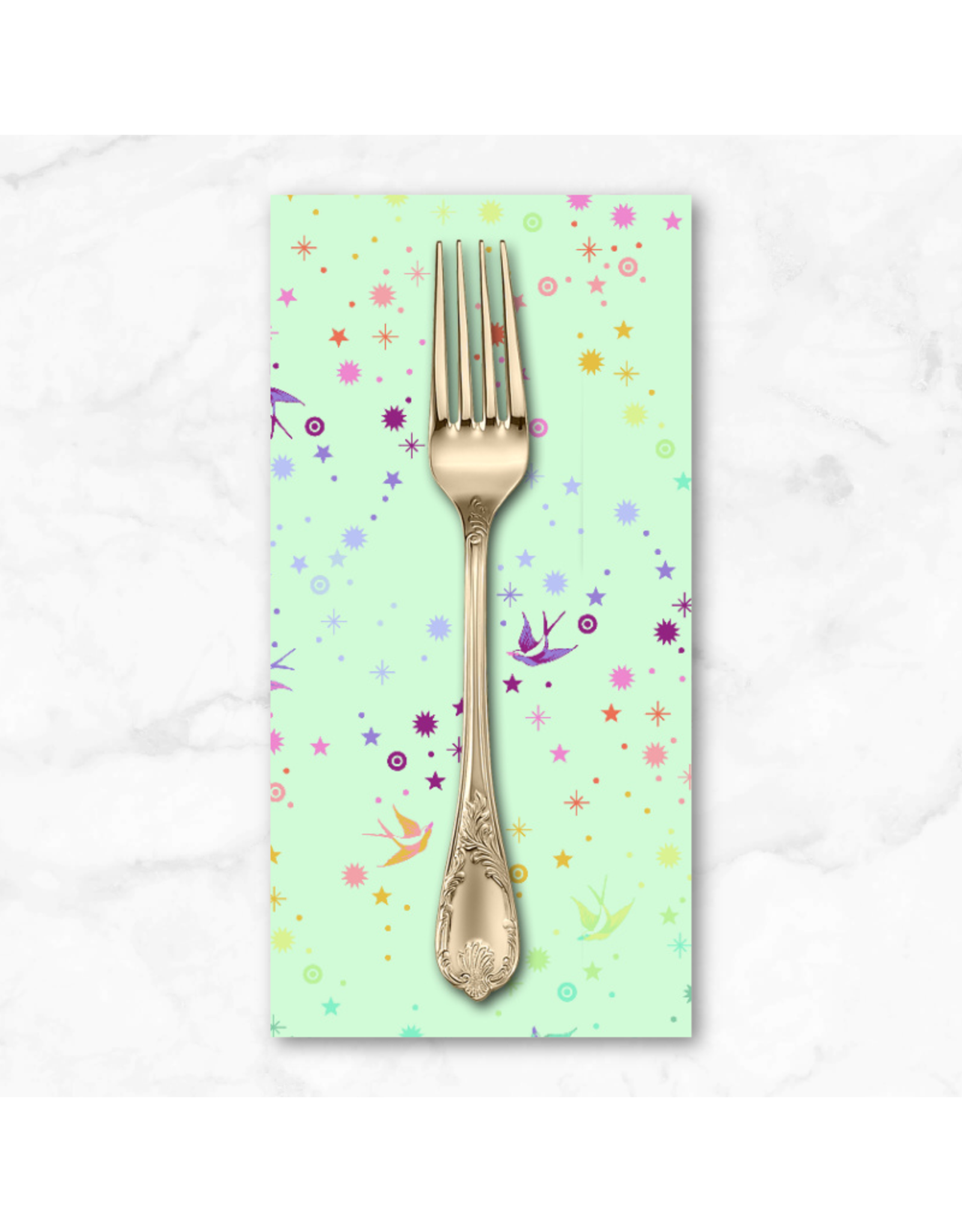 PD's Tula Pink Collection Tula's True Colors, Fairy Dust in Mint, Dinner Napkin