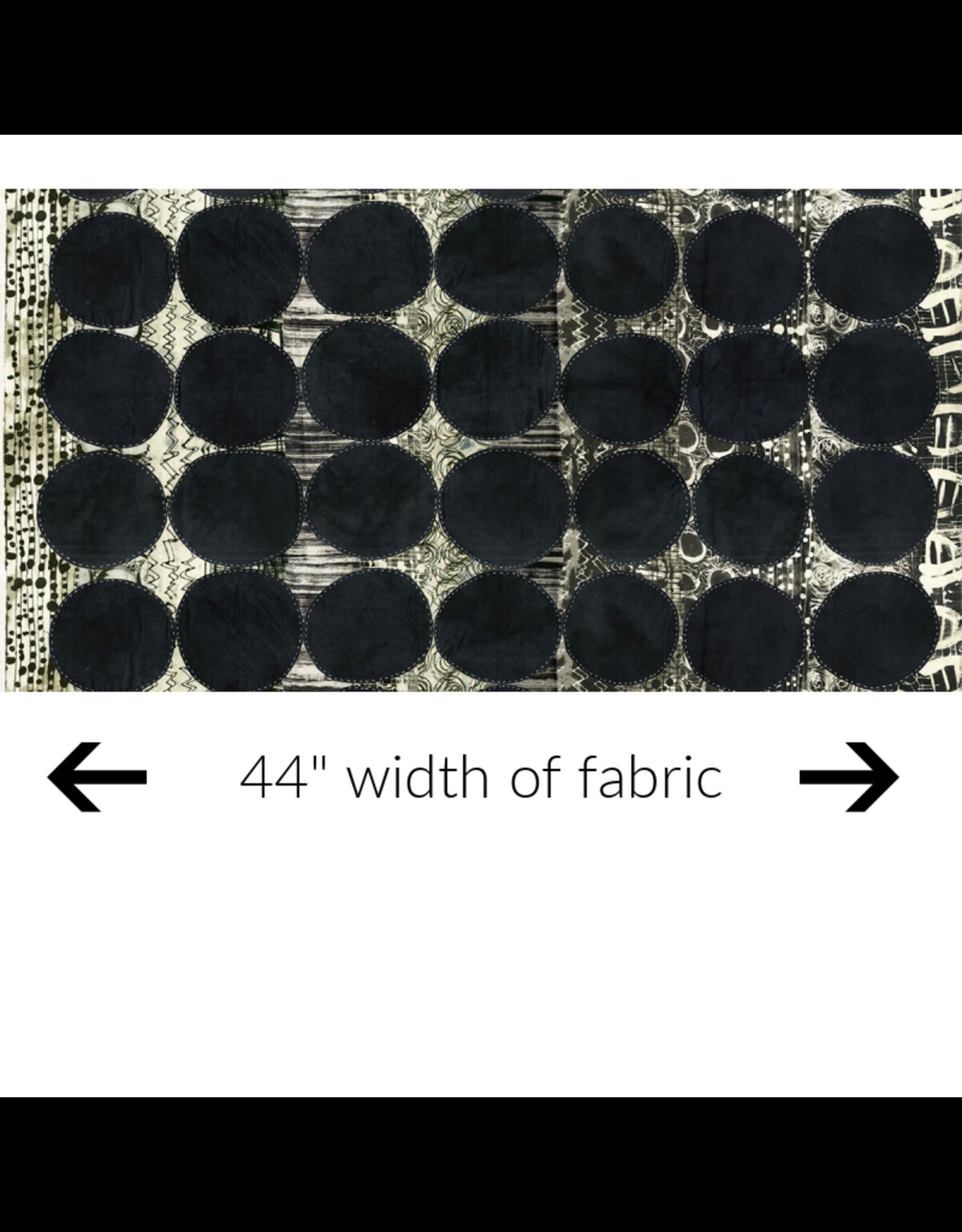 Marcia Derse Curiosity, Circle in Black, Fabric Half-Yards 51955D-1