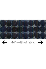 Marcia Derse Curiosity, Circle in Blue, Fabric Half-Yards 51955D-2