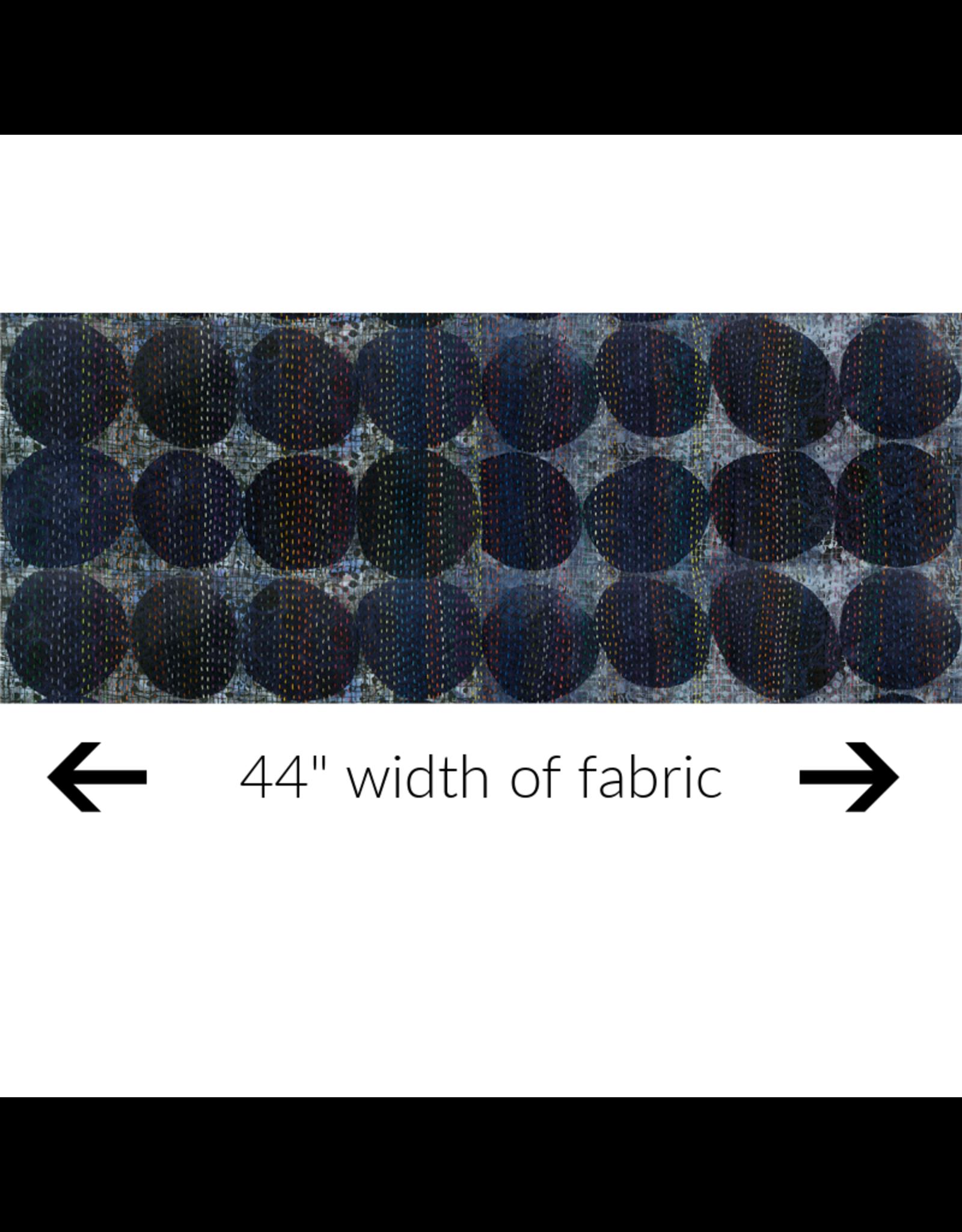 Marcia Derse ON SALE-Curiosity, Circle in Blue, Fabric Half-Yards