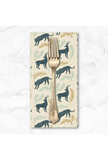 PD's Cotton + Steel Collection All Through the Land, Grassland in Slate with Metallic on Unbleached Cotton, Dinner Napkin