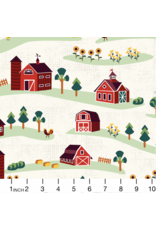 RJR Fabrics ON SALE-Lil' Bit Country, Barnyard in Storybook, Fabric Half-Yards