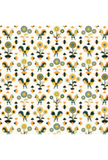 RJR Fabrics ON SALE-Lil' Bit Country, Rockin' Rooster in Green, Fabric Half-Yards