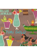 Alexander Henry Fabrics Tiki Dreams, Rum Swizzle in Burlap Fabric Half-Yards 8361B