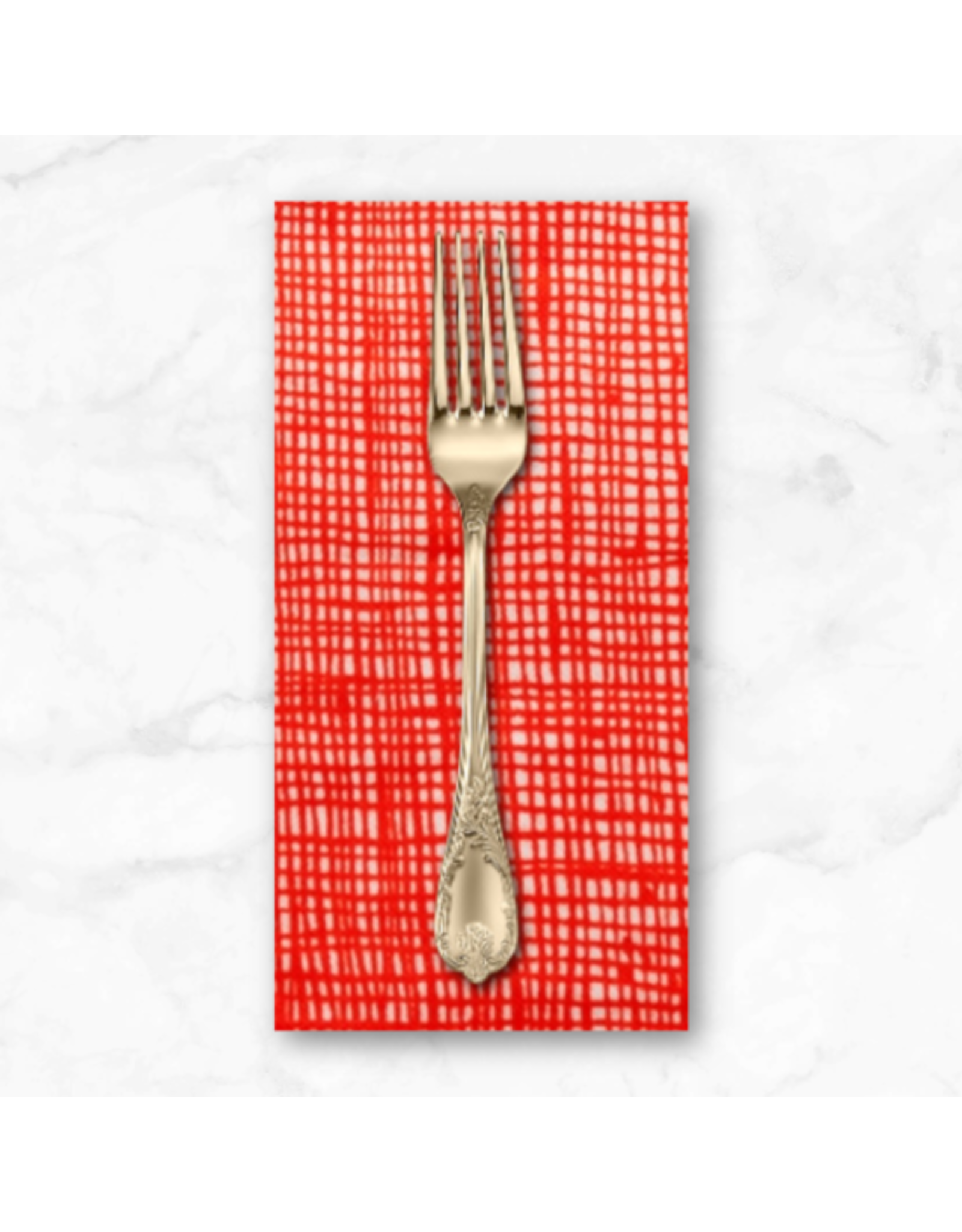 PD's Alexander Henry Collection Heath in Natural/Red, Dinner Napkin