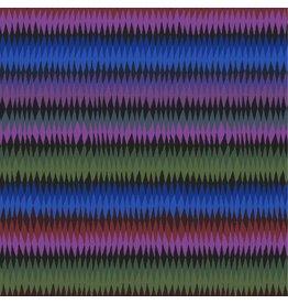 Kaffe Fassett Kaffe Collective 2020, Diamond Stripe in Moody, Fabric Half-Yards  PWGP170
