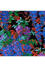 Philip Jacobs Kaffe Collective 2020, Wisteria in Black, Fabric Half-Yards  PWPJ102