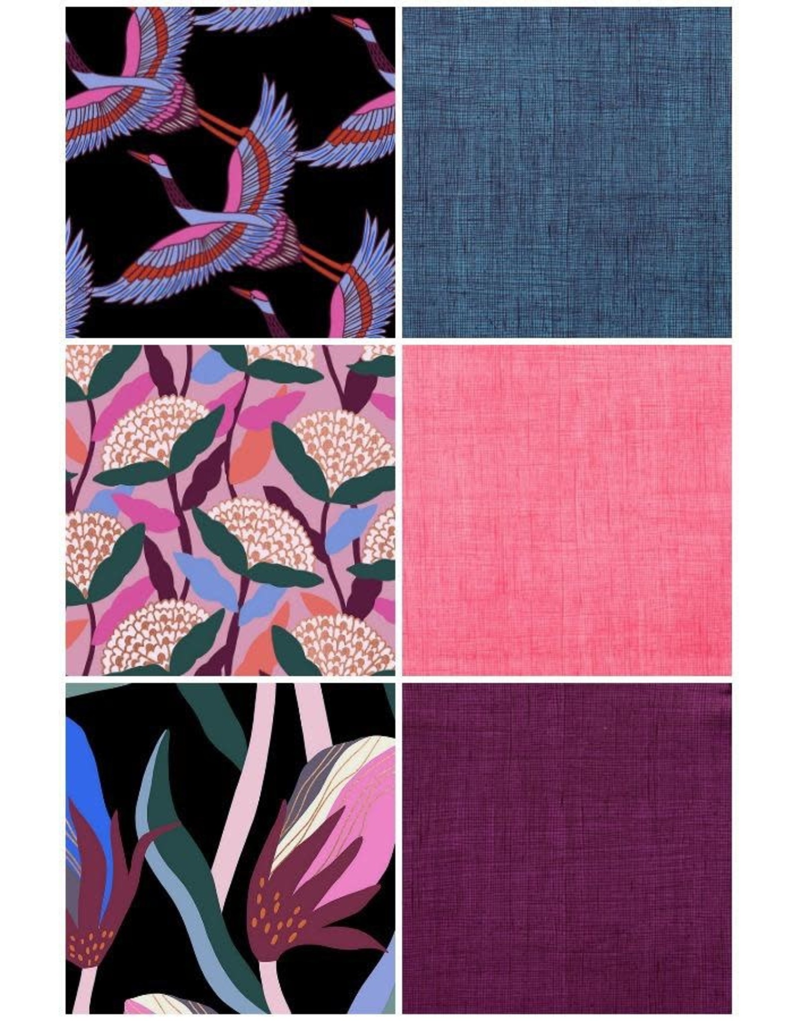 Picking Daisies Airflow from Ruby Star Society, Fat Quarter Bundle containing 6 pcs.